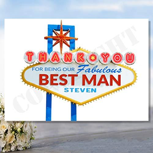 Personalisierte Will You Be My Dankeskarten für Best Man Usher Groomsman Las Vegas Flight Ausland Laden Karte Postkarte Braut Bräutigam
