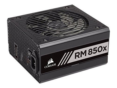 Corsair RM850x - Fuente de alimentación (totalmente modular, 80 Plus Gold, 850 W, EU) negro