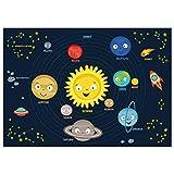 kizibi® Weltraum Kinder Poster, Weltall Universum für