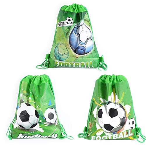 CODOHI 12 Pack Soccer Party Favor Goodie Bags, Treat Gift Drawstring Bag...