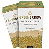 Greenbrrew Natural Green Coffee Beans Extract For Weight Loss - 20 Sachets