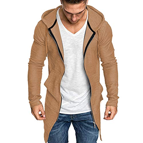 Mens Faux Fur Hooded Coat, Sunyastor Winter Thicken Jacket Warm Outwear Outdoor Lined Fleece Zipper Outcoat