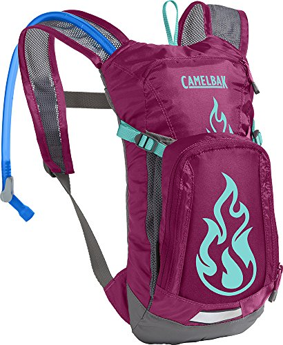 CamelBak Mini M.U.L.E. Kids Hydration Backpack, 50 oz, Baton Rouge/ Flames