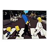 QIQIBABA The Simpsons Decorations Poster, dekoratives