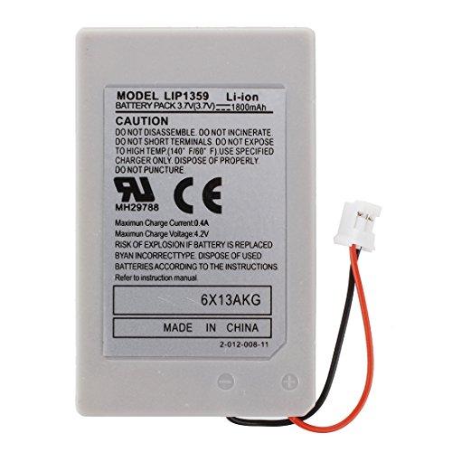RETYLY 2 x 1800mAh Bateria de Repuesto Compatible con PS3 Controlador Remoto Delgado