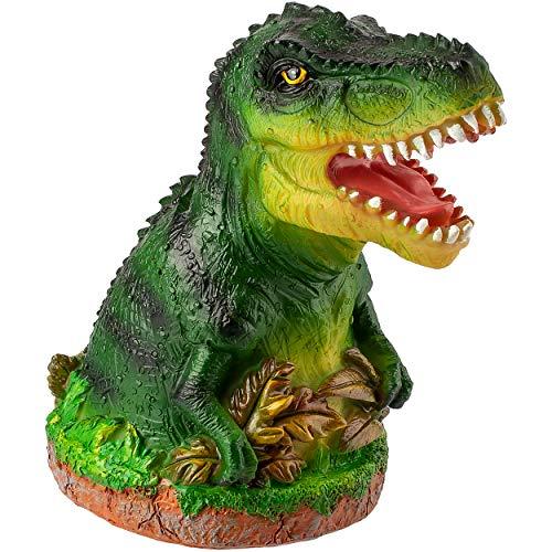 alles-meine.de GmbH große XL - Spardose - Motivwahl - 16 cm - Dino / Dinosaurier - mit Verschluss - stabile Sparbüchse - aus Kunstharz / Polystone - Sparschwein - für Kinder Kind..