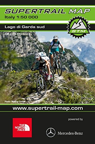 Supertrail Map Lago di Garda Sud: Maßstab 1:50 000