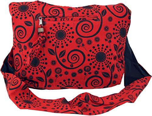 GURU-SHOP Bolso de Sadhu, Comprador, Bolso Pequeño - Rojo, Unisex - Adultos, Algodón, Tama�o:One Size, 20x30x10 cm, Bolsas Sadhu, Bolsas Hippie