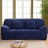 MKQB Funda de sofá elástica de Color sólido, Funda de sofá Todo Incluido elástica y Bien Envuelta, Funda de sofá de Esquina para Sala de Estar N ° 4 L (190-230cm)