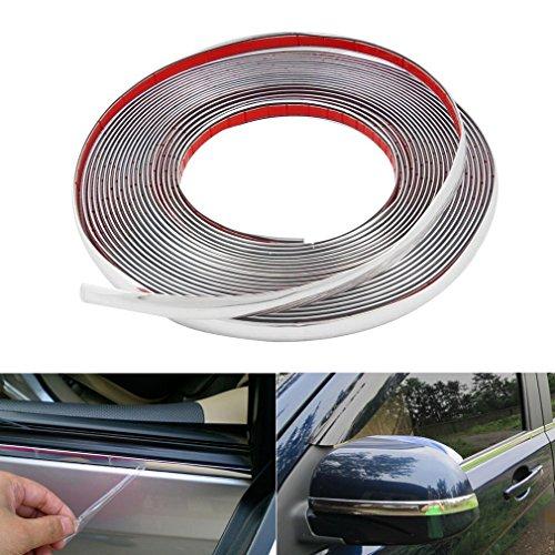 Chrom Zierleiste 10mm x 15m selbstklebend universal Auto Chromleiste Leisten Flexibel Kunststoff