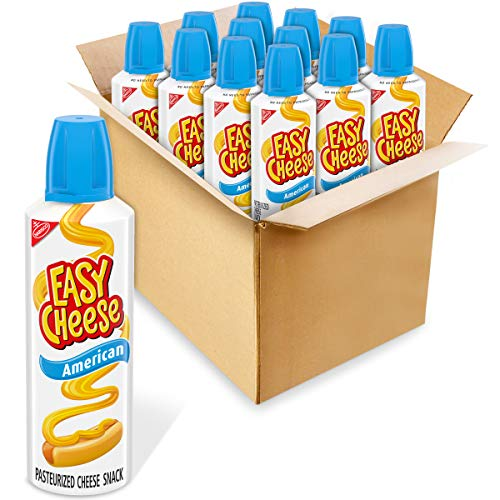 Easy Cheese American Cheese Snack, 12 - 8 oz Cans