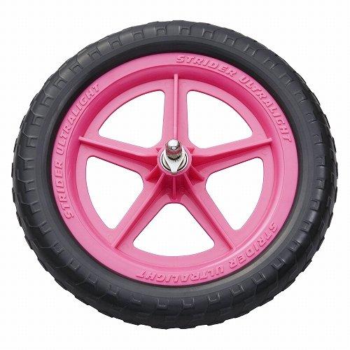 Strider Ultralight Wheel - Lekvrij Fietswiel voor 12 Inch Kinderfiets, Lichtgewicht Rubber Reservewiel in Roze