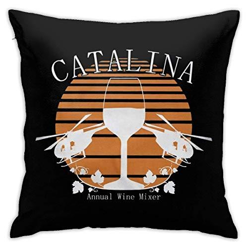 Hdadwy Catalina Wine Mixer Funda de Almohada Suave súper Lujosa, Funda de Almohada Muy Duradera.