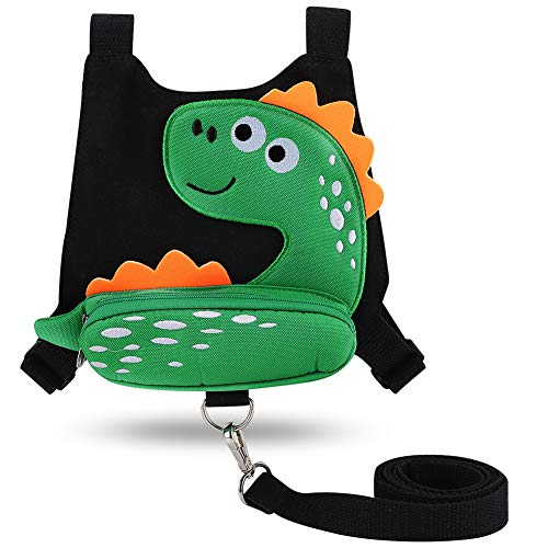 Accmor Toddler Harness Safety Leashes, Cute Dinosaur Anti-Lost Harness Leash, Child Kid Walking Assistant Strap Belt for 1-5 Years Boys to Zoo or Mall