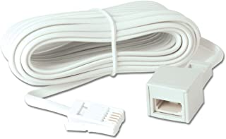 Merriway BH05755 Telephone Extension Cable, 20 M (65 Foot), White