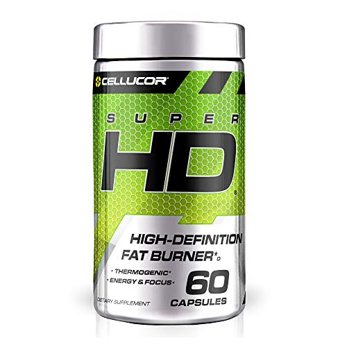 Cellucor SuperHD Weight Loss Capsules - Supplement for Men & Women With Nootropic Focus Plus 160mg Caffeine - 60 Capsules