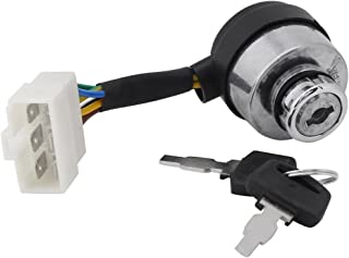 Ignition Switch With Key for 2.5-6.5KW Gas Generator 188F Starter, 6 Wire Ignition Lock Cylinder With Key
