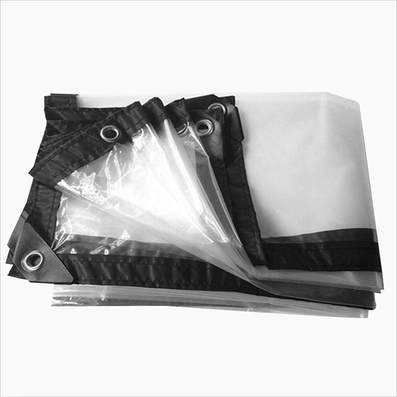 TARPAULIN Plane wasserdichtes Segeltuch, transparentes PVC-regendichtes Tuch für die im Freienbedeckung Bauernhof Camping Lagerabdeckung Tuch 180g   m2 (Farbe   Transparent, gre   5x8m)