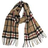 Lona Scott Tartanista - Bufandas de tartán escocés - 100% lana de cordero - 152 x 30 cm (60' x 12') - Thompson