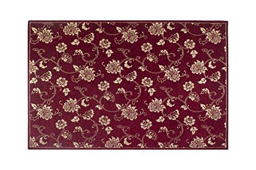 Trendyitalia 12695Alfombra, Poliestere-Cotone, Burdeos, 100x 8x 2cm