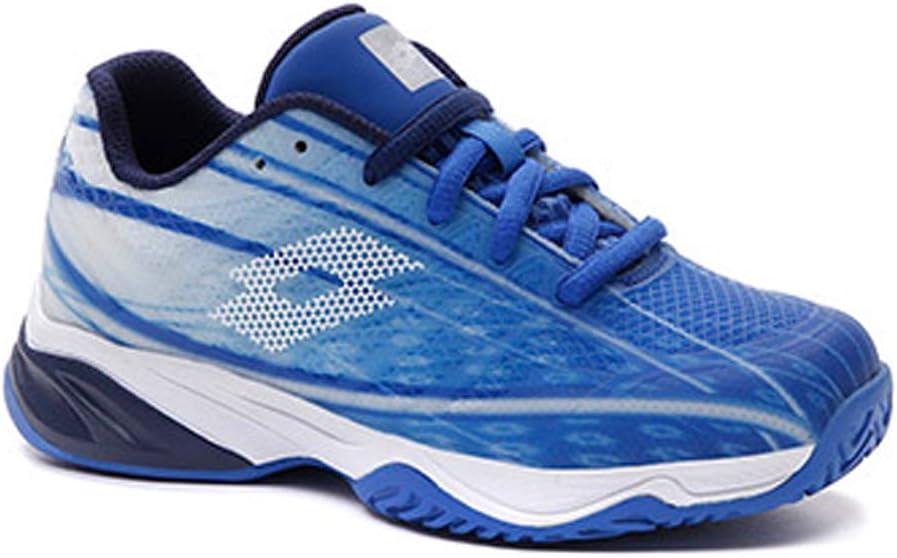 Lotto Junior Mirage 300 ALR Tennis Shoes, Nebulas Blue/All White/Navy Blue (US Size 5.5)
