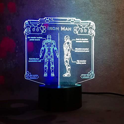 Game Warrior 3D Tischlampe Kinderspielzeug Geschenk Farbe passend Nachtlicht LED visuelle Schlafzimmer Tisch Wohnkultur kreative Geschenk