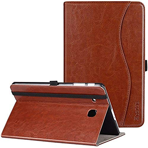 Ztotop Case for Samsung Galaxy Tab E 9.6, Leather Folding Stand Folio Cover for Samsung Galaxy Tab E Wi-Fi/Tab E Nook 9.6-inch Tablet(SM-T560/T561/T565 & SM-T567V),Brown