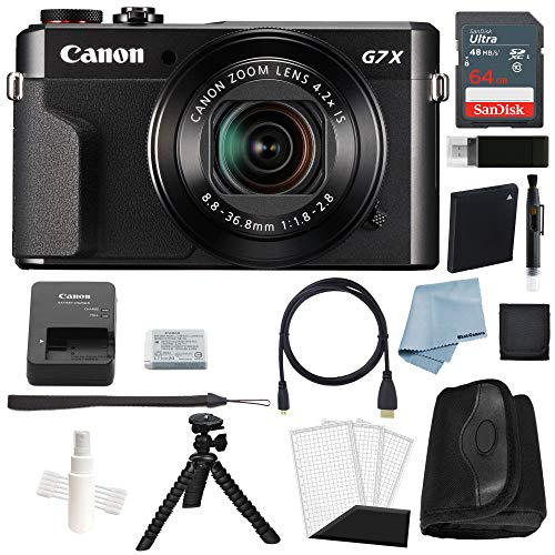 Canon G7x Mark II Digital Camera Bundle + Canon PowerShot g7 x Mark II Deluxe Accessory Kit - Including to Get Started