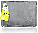 Allen Solly Men's Money Clip Leather Bi-Fold Slim Wallet with Card Holder