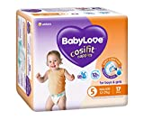 BABYLOVE Cosifit Walker Nappies 12-17kg (17 pack x 4), Walker, 4 count