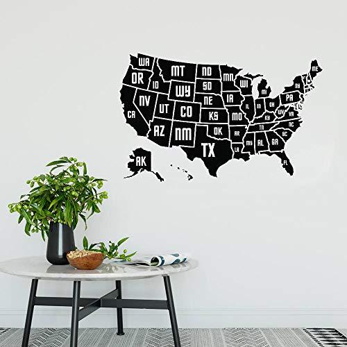 cooldeerydm USA kaart Vinyl Wall Stickers Home Decoration kaart van de Amerikaanse provincie muur Vinyl Decals mei lokale muurschildering Poster