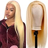 TUNEFUL 613 Blonde Straight Human Hair Lace Front Wigs 100% Brazilian Virgin Human Hair Wigs for Black Women 150% Density Pre-plucked with Baby Hair 13x4 Lace Front Wigs (18 Inch hair, Blonde Wigs)