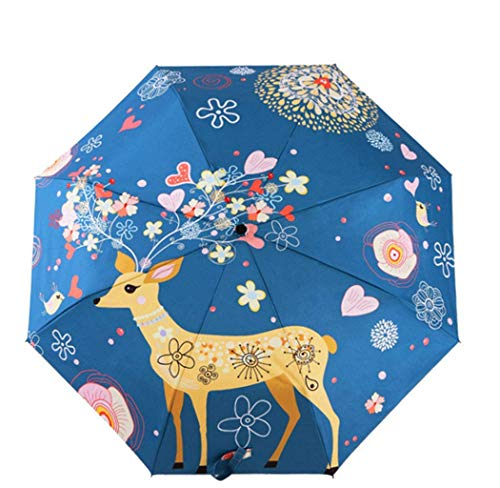 Naxdawon Regenschirm, Taschenschirm Regenschirm Sonnenschirme Regenfest Winddicht Schneeschutz Sonnenschutz Anti-UV Für Kinder, Freunde, Erwachsene