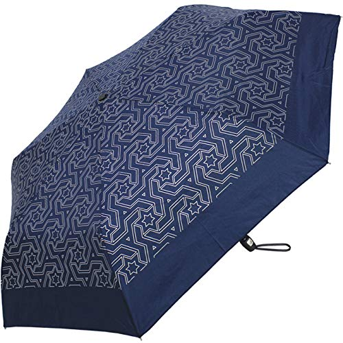 Pierre Cardin Taschenschirm Easymatic Slimline Universe - Blau Silber