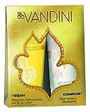 aldoVANDINI COMFORT Duo Set für Frauen, Tahiti Vanilla & Macadamia Duschgel & Bodylotion - vegan & ohne Parabene, 1er  Pack (2x 200ml))