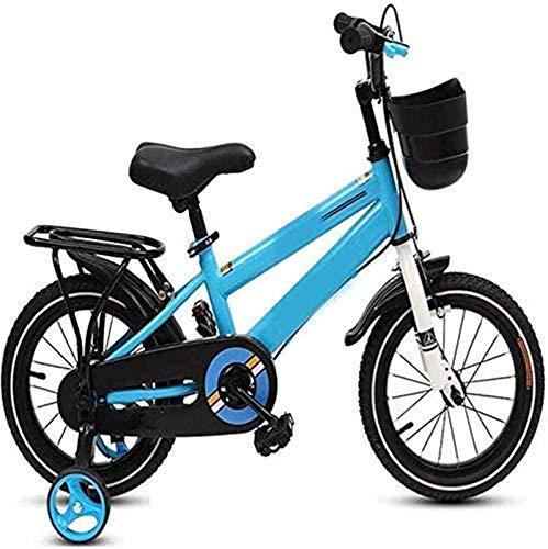 HCMNME Bicicleta Duradera, Bicicletas Bici del Deporte 12in, Alto Contenido de Carbono Marco de Acero, niños Bicicletas for niños, con la Parte Posterior del Asiento y Las Ruedas de entrenami