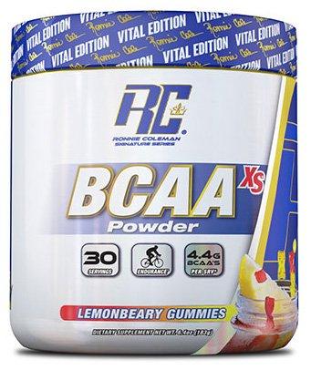 RCSS BCAA-XS 2:1:1 Powder Amino Acids Aminosäure BCAA Regeneration Muskelaufbau Bodybuilding 200g Pulver (Lemonbeary Gummies)