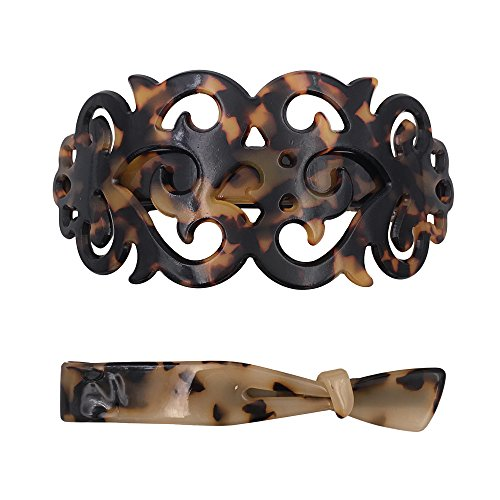 Starke große Haarspange Barrette Haarklemme Set für Dickes Haar Schildkröten Muschel Muster für Frauen Damen