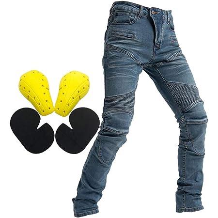 Motorradhose Jeans Ranger Leicht Dünn Herren Sommer Textil Jeanshose Slim Fit Motorrad Textilhose Männer Eng Stretch Schwarz 3xl Xxxl Auto