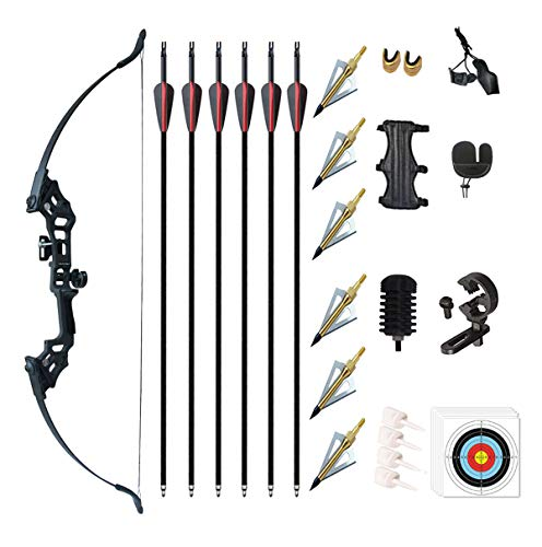 """Monleap Archery 51"""" Takedown Recurve Bow and Arrows Set for"""