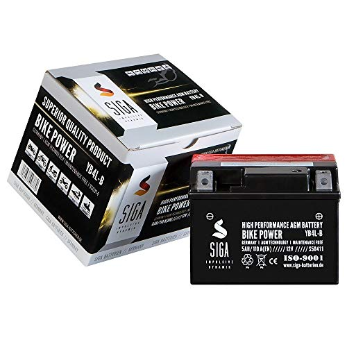 Motorrad Batterie YB4L-B AGM 5AH 12V 110A/EN Quad Roller CB4L-B 50411 Gel