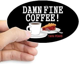 CafePress Twin Peaks Damn Fine Coffee Sticker Oval Bumper Sticker, Euro Oval Car Decal