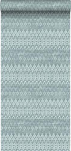 behang dierenhuid structuur ijsblauw - 347313 - van Origin - luxury wallcoverings