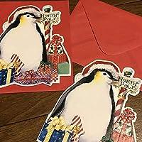 キャロルウィルソン ペンギン クリスマスカード2枚
