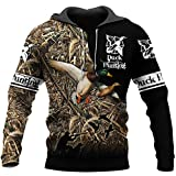 7eaven Men's Hoodies Cool Sweatshirt Hunter Shirts, Duck Hunting Camo, M