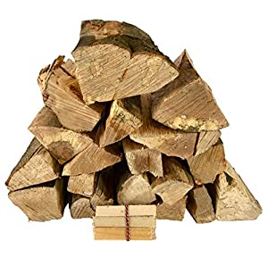 Kiln Dried Hardwood Firewood Logs. 30kg. Suitable for Fire Pits, Chimineas, Wood Burners, Stoves, Fireplaces and More. Sustainably Sourced Seasoned British Hardwood. Includes Free kindling.