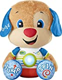 Fisher-Price Laugh & Learn So Big Puppy, Large Musical Plush Toy with Learning Content for Toddlers and Preschool Kids