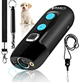 Ultrasonic Dog Barking Deterrent Devices, Rechargeable Bark Control Device, Safe Dog Sonic Repellents & Dog Whistle, Anti Dog Behavior Training Control Devices