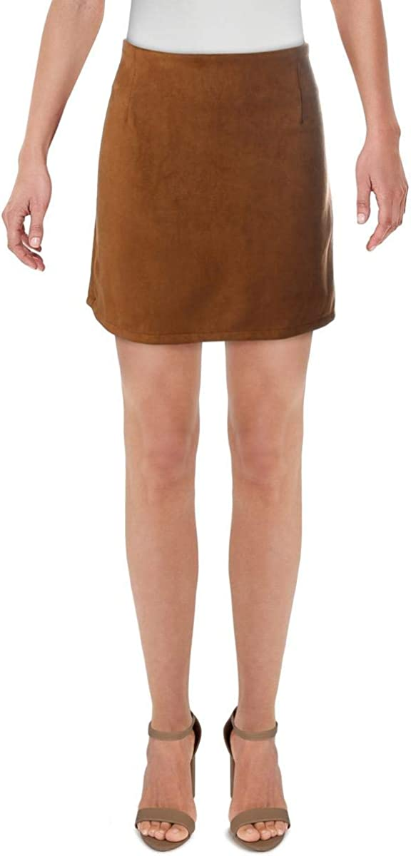 Lisa & Lucy Womens Suade Casual Mini Skirt