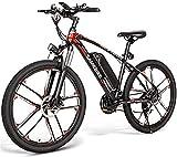 Bicicletas Eléctricas, Eléctrica de bicicletas de montaña, 26' extraíble de iones de litio bicicleta eléctrica, (48V 350W 8Ah) del freno de disco, Adulto Montar bicicleta estática (Color: Negro) ,Bici